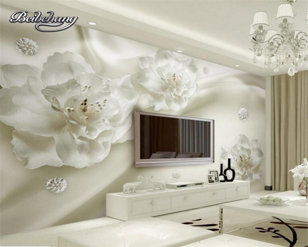 Beibehang Custom Living Room Wallpaper Mural Decoration Modern Simple Golden 3d Pearl Ball Soft Bag Background Wall Home Improvement