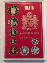 1972 Malta 8 Coin Proof Set in Plastic Case Lot#B319 - $18.70