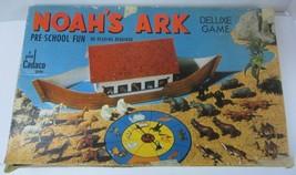 Noah's Ark Deluxe Game Cadaco Biblical Pre School No Reading Vntg  1971 ... - $21.49