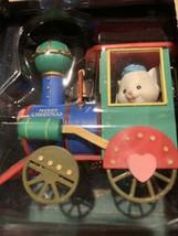 Vintage Mistletoe Magic Collection Mouse In Choo-Choo Train Christmas Or... - $12.60