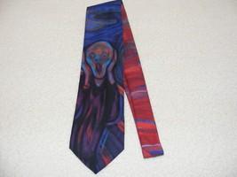 "Ralph Marlin Men's 1994 Edvard Munch ""The Scream"" Tie Tie Guc - $24.99"