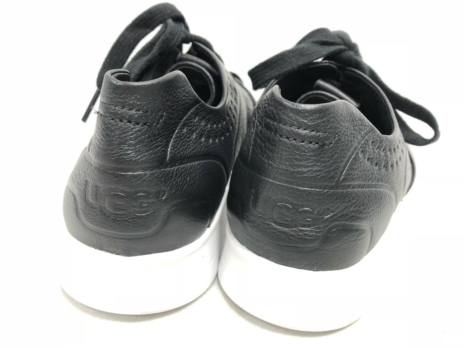 UGG Australia Tye Lace Up Leather Perforated Fashion Sneakers 1092577 Black 8