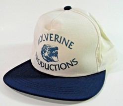 Wolverine Productions Cap Baseball Hat Strapback Blue White - $14.80