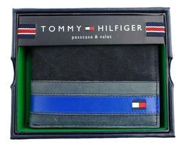 Tommy Hilfiger Men's Leather Canvas Credit Card Wallet Billfold Navy 31TL22X050 image 6