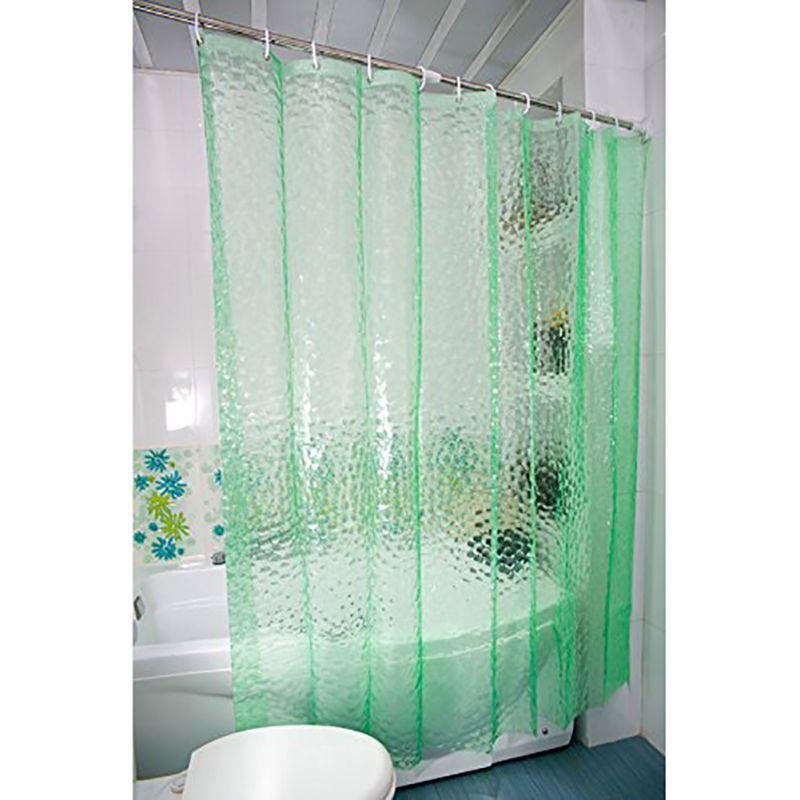 2016 Bathroom Waterproof Fabric EVA Curtains 180X180cm 3D Water Cube Design Wate