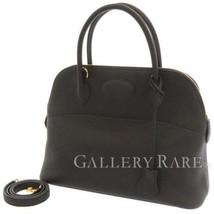 HERMES Bolide 31 Taurillon Clemence Noir 2Way Handbag Shoulder Bag #C Au... - $8,326.60