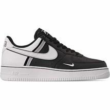 Men's Nike Air Force 1 '07 LV8 Casual Shoes Black/White/Black/Wolf Grey ... - $142.48