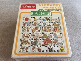 Vintage 1977 Playskool SESAME STREET Alphabet Match Ups Puzzle SEALED 24... - $22.72