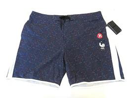 "NWT Hurley Phantom x Nike x France 18"" Length Swim Trunk Board Shorts Men Sz 38 - $79.16"