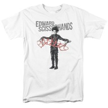 Edward Scissorhands T-shirt retro 90's movie 100% cotton graphic white tee image 2