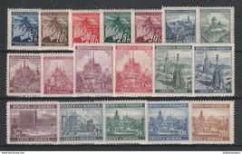 1939 Bohemia and Moravia Set of 18 Postage Stamps Catalog Number Mi 20-27 MNH