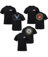 Black Veteran USA T-Shirt USAF USMC USN Air Force Navy Marines Vet Tee - $13.99+