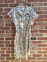 Diesel Floral Button Down Slit Belted Short Sle... - $89.99