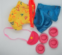 G1 My Little Pony City Kids Pony Wear Outfit Clothes Neon with Shoes NICE - $12.00