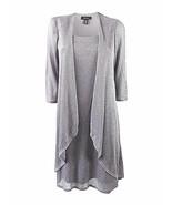 R&M Richards Shift Dress and Draped Jacket Silver Metallic Womens Size 6... - $32.62