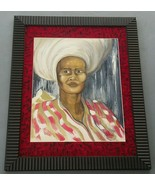 2007 Signed Ribera Untitled/ African Caribbean Woman Portrait Art Painting - $280.49