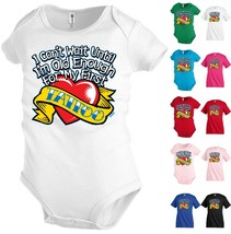 I can`t wait my first Tattoo Kids T shirt Youth tee Baby Toddler bodysui... - $13.99