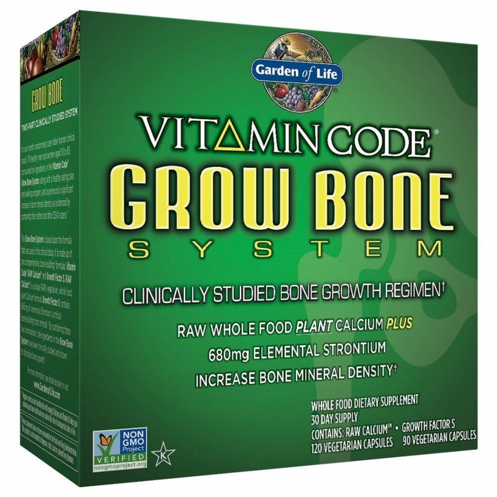 Primary image for Garden of Life Raw Calcium Supplement - Vitamin Code Grow Bone System Strontium