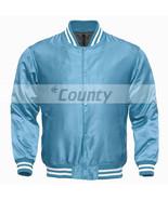 Letterman Baseball College Varsity Bomber Super Jacket Sports Wear SkyBl... - $49.98+