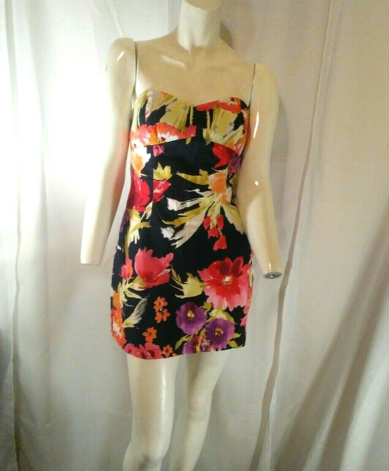 Forever 21 Womens Multicolored Strapless Floral Mini Dress Small image 6