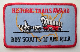 Boy Scouts Of America Bsa Historic Trails Award 3 X 5 Inch Embroidered Patch New - $2.50