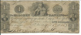 1824 $1 New Jersey Hoboken Banking & Grazing Company Franklin G4 Banknote - $68.17