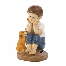 My Pup And I Solar Figurine - $28.25