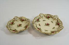 Rosenthal Moosrose Stacking Plates Pierced Candy Dish Kronach Germany Moliere - $28.84