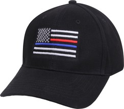 Black Thin Blue Line Thin Red Line USA Flag Support Police Firefighters ... - $9.99