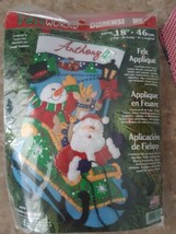 "Dimensions Felt Works 8099 Kit Stocking 18"" Long Felt Applique Christmas... - $29.65"