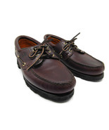 Timberland 32026 ACT Mens Brown Leather 3-Eye Boat Shoes Lug Soles Size ... - $47.53