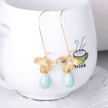 2017 Hot Fresh Leaves  Earrings For Women  Drop Long Earrings Female - $6.64