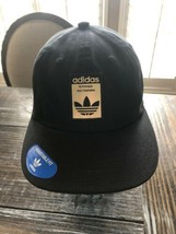 Adidas Originals Relaxed Base Black and Gold Trefoil Strapback Dad Hat B... - $29.70