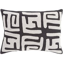"Diva At Home 13"" x 19"" Tribal Rhythm Jet Black and Fog Gray Decorative T... - $96.52"