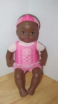 Fisher Price Baby So New Doll Little Mommy pink ballerina African Americ... - $11.87