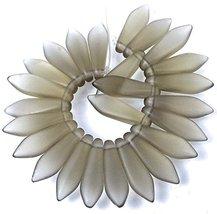 25 pcs Czech Frosted Sea Glass Dagger Beads - Matte - Black Crystal 16mm - $17.09