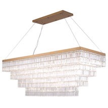 "AM4700: Rectangular Crystal Baguette Chandelier (20""-30"" H) (3-5 Flr) $2... - $2,325.00"