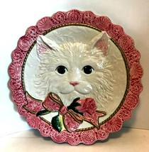 Fitz and Floyd Kittens & Roses Canape Plate FF Retired 8.5 inch Diameter - $28.70