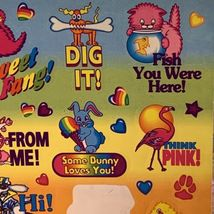 Almost Full Silly Senders Lisa Frank Stickers Valentine's Themed Playful Cheeky image 3