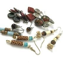 Vintage Earring lot pierced bohemian Boho Hippie Tribal Festival Southwe... - $16.82