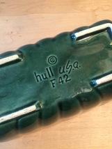 Vintage Hull USA Rectangular Green Planter (F42) Art Pottery image 3