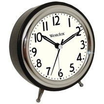Westclox 75032 Classic Retro Alarm Clock with Chrome Bezel - $29.80