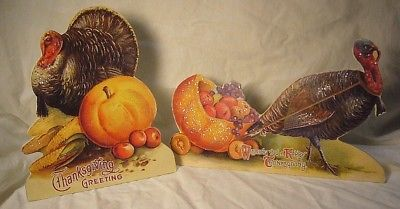 Bethany Lowe Thanksgiving Greeting Turkeys  Dummyboard