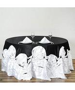 "120"" Large Round Tablecloth Satin Tablecover For Wedding Party TkVormart... - $99.00"