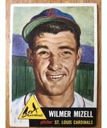 1953 Topps #128 Wilmer Mizell Baseball Trading Card St. Louis Cardinals - $16.82