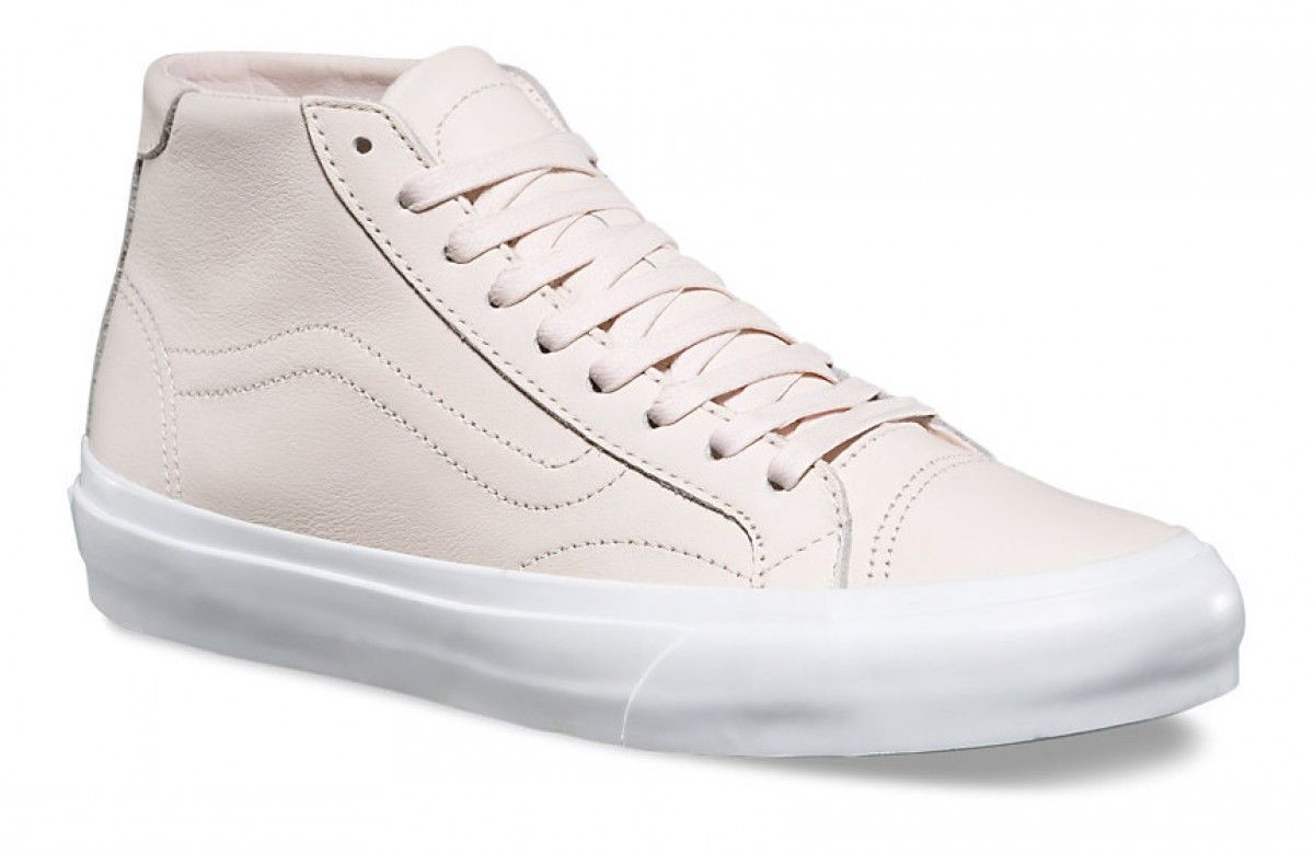 VANS Court Mid DX (Leather) Delicacy Pink Skate Shoes UltraCush WOMEN'S 7