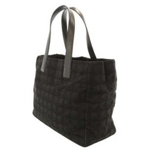 CHANEL New Travel Line Tote MM Nylon Jacquard Leather Black A15991 Authe... - $448.80