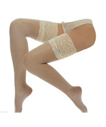 Deep Lace top Bridal Stockings with Blue Bow, wedding  by leading Design... - $7.97