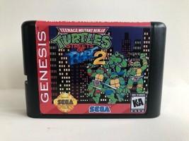 TMNT in Streets of Rage 2 Teenage Mutant Ninja Turtles Sega Genesis Custom Hack - $14.06