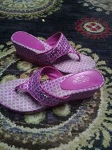 Pink Coach Sandals 9.5 women shoes flip flops wedges heels thongs - $50.00